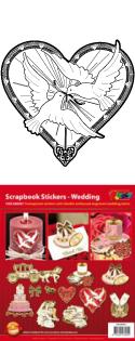 GS656421 Scrapbook stickers Huwelijk