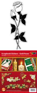 GS656501 Scrapbook stickers Rozen hoeken en randen