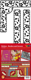 GS656580 Scrapbook stickers Floral Borders and Corners