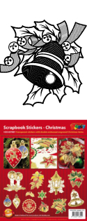 GS657001 Scrapbook stickers Kerst items