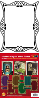 GS658601 Scrapbook stickers Elegante fotolijstjes