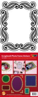 GS658602 Scrapbook stickers fotolijstjes groot klein