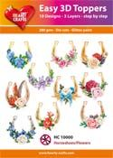 HC10000 Easy 3D-Toppers Horseshoes / Flowers
