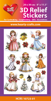 HCRS10723-01 3D Relief Stickers A4 -Angels