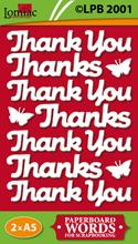LPB2001 Thank you en thanks teksten