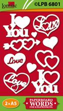 LPB6801 hartjes met daarin I LOVE YOU