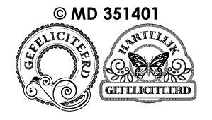 MD351401 Hartelijk Gefeliciteerd Labels