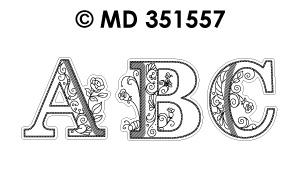 MD351557 Fancy Letters ABC