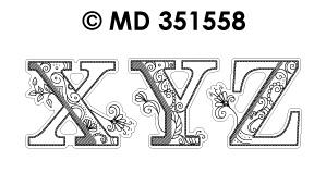 MD351558 Fancy Letters XYZ