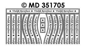 MD351705 Vrolijk Kerstfeest rand