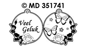 MD351741 Mini Kaart Stickers: Nederlandse tekst stickers
