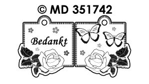 MD351742 Mini Kaart Stickers: Nederlandse tekst stickers