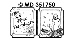 MD351750 Mini kaart Stickers: Nederlandse tekst stickers
