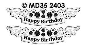 MD352403 Happy Birthday Labels Flowers1