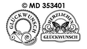 MD353401 Herzlichen Gluckwunsch Labels