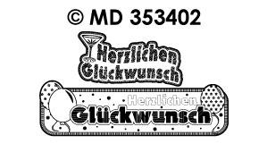 MD353402 Herzlichen Gluckwunsch Banners