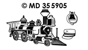 MD355905 Oldtimer steam locomotive 1