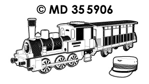 MD355906 Oldtimer steam locomotive 2