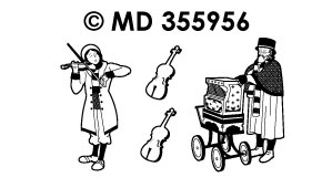 MD355956 Since Organ and Viola Player Street Musicians