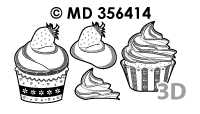 MD356414 3D Cupcakes