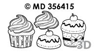 MD356415 3D Cupcakes