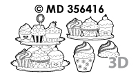 MD356416 3D Cupcakes