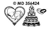 MD356424 Trouwen Bruidspaar met Taart