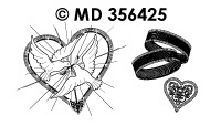 MD356425 Trouwen Duiven met Ringen