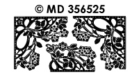 MD356525 Hoek rand Bloemmotief
