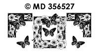 MD356527 Kader Bloessem met vlinder