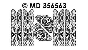 MD356563 Hoeken en rand bloemen (smal)