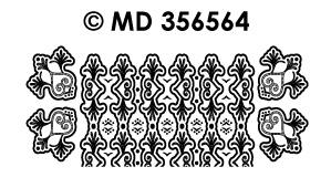 MD356564 Hoeken en rand hart en krul (smal)