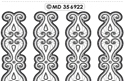 MD356922 Double embossed Borders Ornament