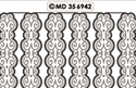MD356942 Double embossed Borders Ornament