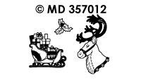 MD357012 Rendier en slee