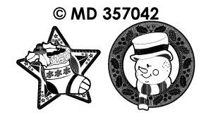 MD357042 Sneeuwman Kerstsok