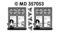 MD357053 Raam met kaars
