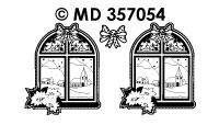 MD357054 Raam met kerstster