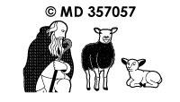 MD357057 Kerstherders met Schapen