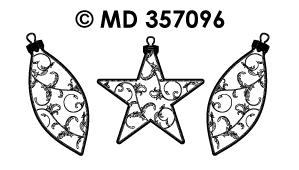 MD357096 Kerst Ballen/Sterren