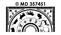 MD357451 Chinese horoscoop cirkel