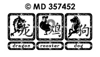 MD357452 Chinese horoscoop dieren