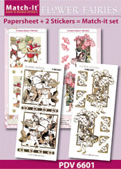 PDV6601SET Match-It Set Flower Fairies aardbei en phlox