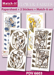 PDV6603SET Match-It Set Flower Fairies korenbloem en iris
