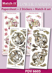 PDV6605SET Match-It Set Flower Fairies mallow en vetch
