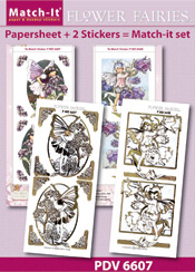 PDV6607SET Match-It Set Flower Fairies heliotrope en canterburry