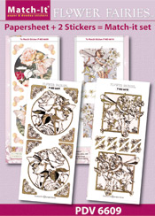 PDV6609SET Match-It Set Flower Fairies roos en wilde kerssenbloessem