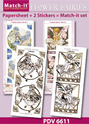 PDV6611SET Match-It Set Flower Fairies chicory candytuft