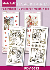 PDV6613SET Match-It Set Flower Fairies rode bes en bes