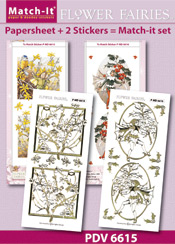PDV6615SET Match-It Set Flower Fairies winter jasmine en hulst